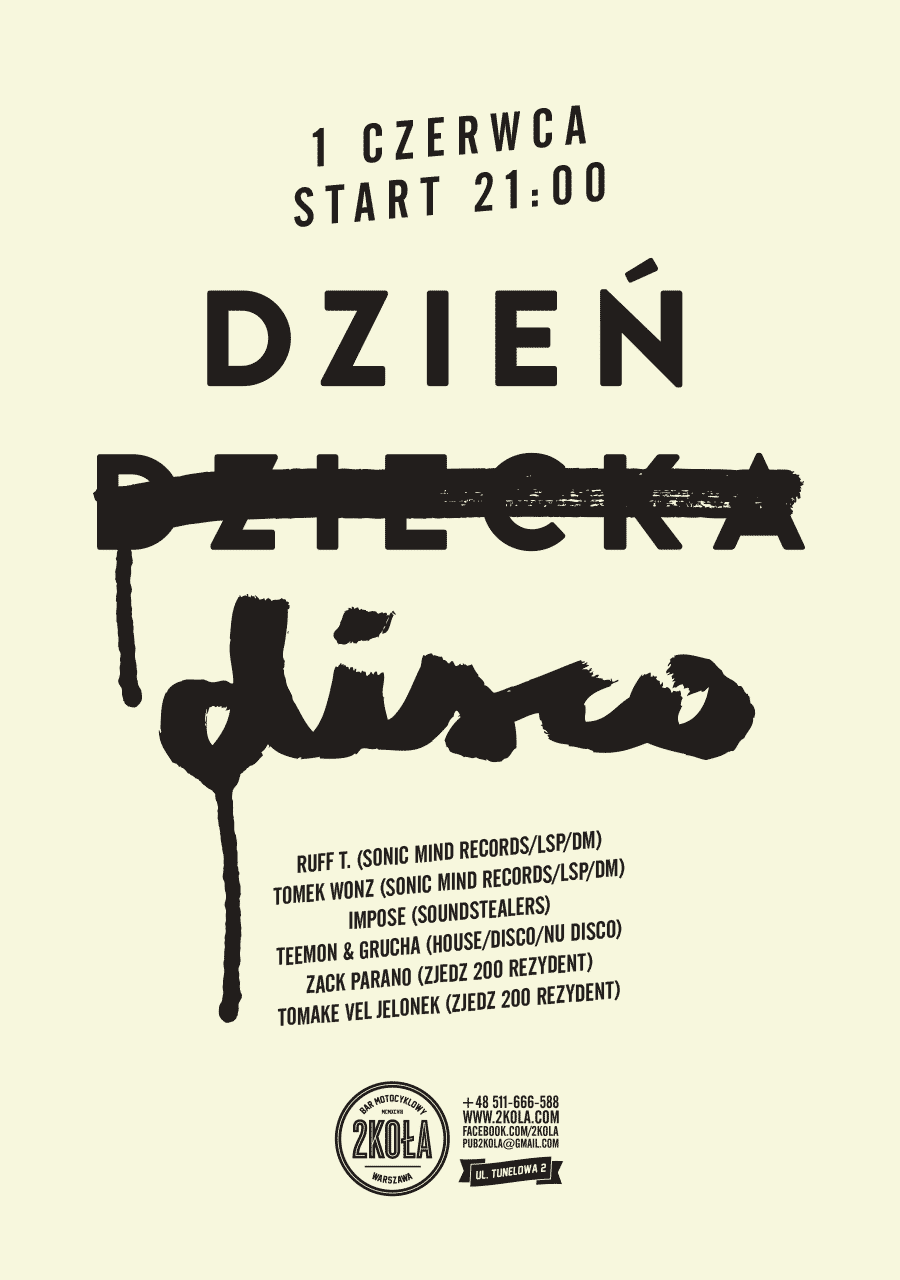 Poster for 2koła music bar