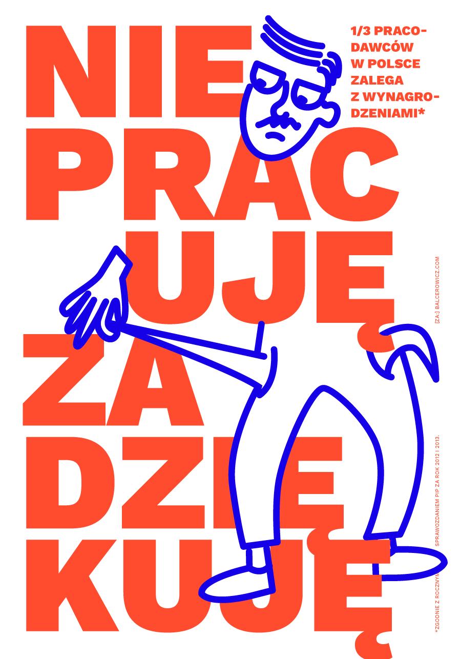 """""""Dziekuje"""" poster"""